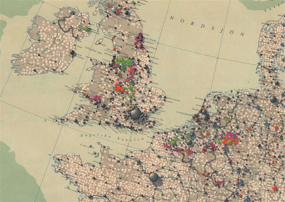 Ekonomisk Karta Över Europa. - Alternate View 2