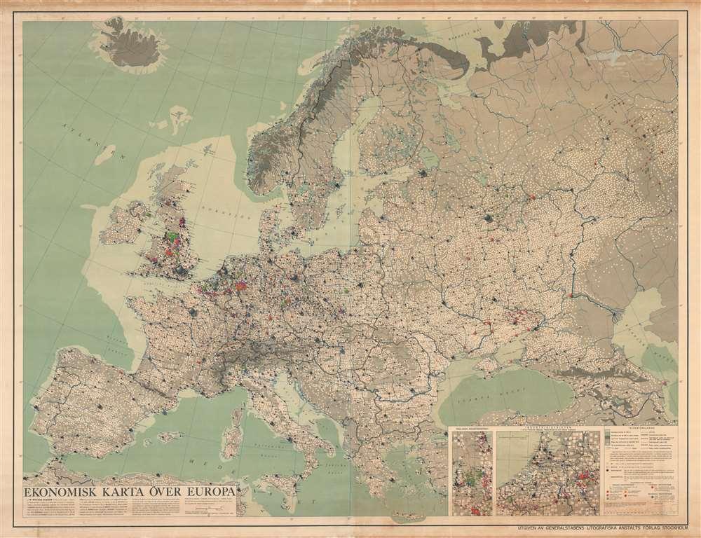 Ekonomisk Karta Över Europa. - Main View