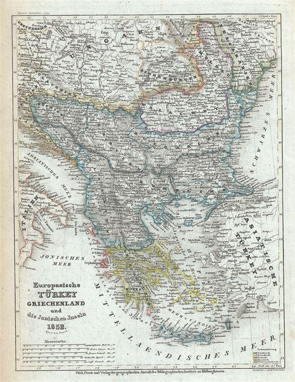 Europaeische Turkey Greichenland und die Jonischen Jnseln.