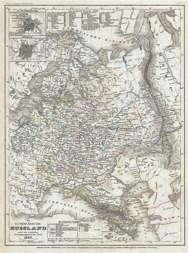 Das Europaische Russland nebst den asiatischen Provinzen diesseit des Ural.