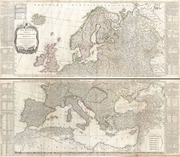 Europe Divided into its Empires, Kingdoms, States Republics, & c.