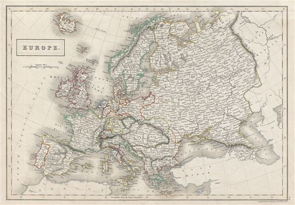 Map Of Europe 1840.Europe Geographicus Rare Antique Maps