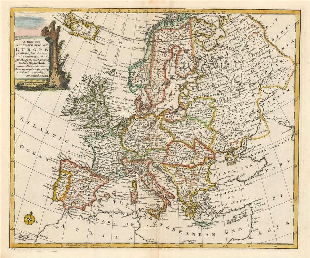 1747 Bowen Map of Europe
