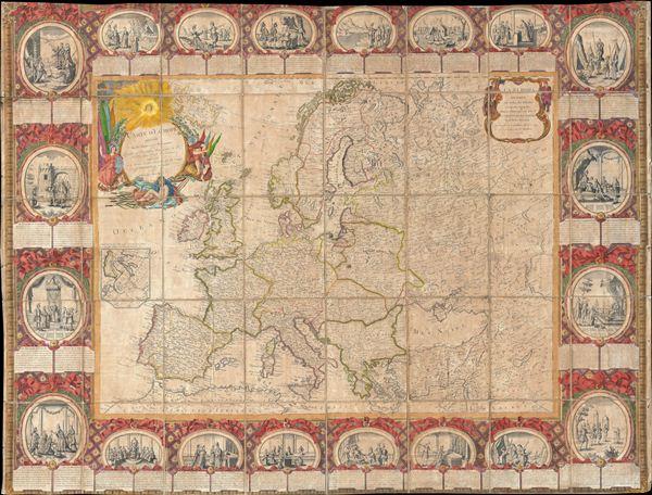 Carte D'Eurpe Divisee En ses Empires et Royaumes.