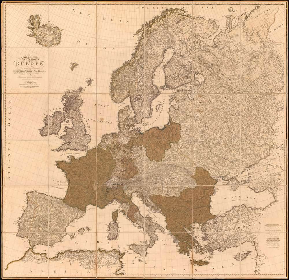 A Map of Europe In which are delineated its Grand Modern Divisions, as well as Partitions into inferior States Governments and C. - Main View