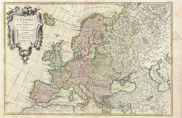 L'Europe divisee en ses Principaux Etats.