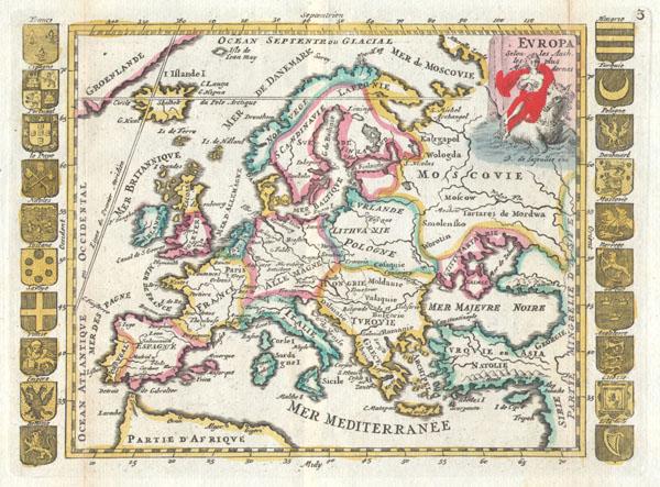 Europa Selon les Auth. les plus Modernes.
