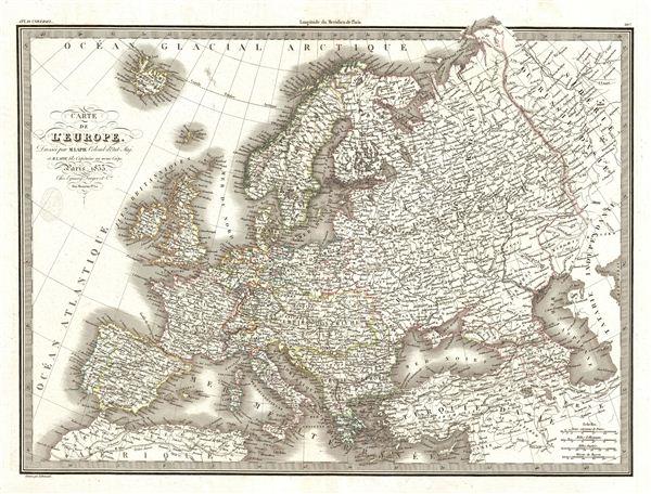 Carte de l'Europe.
