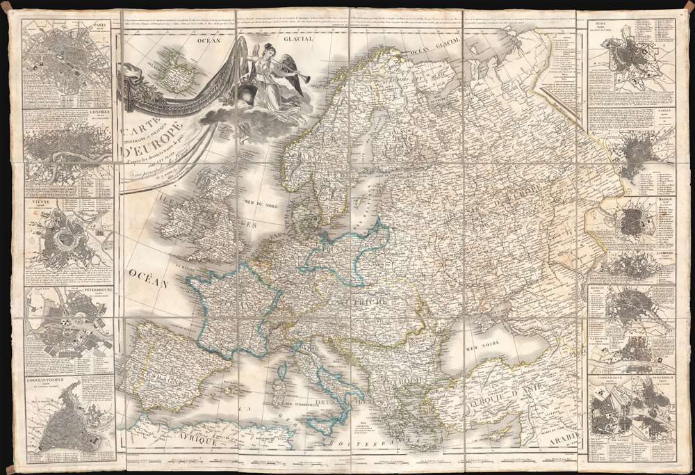 1836 Maire Large Format Map of Europe