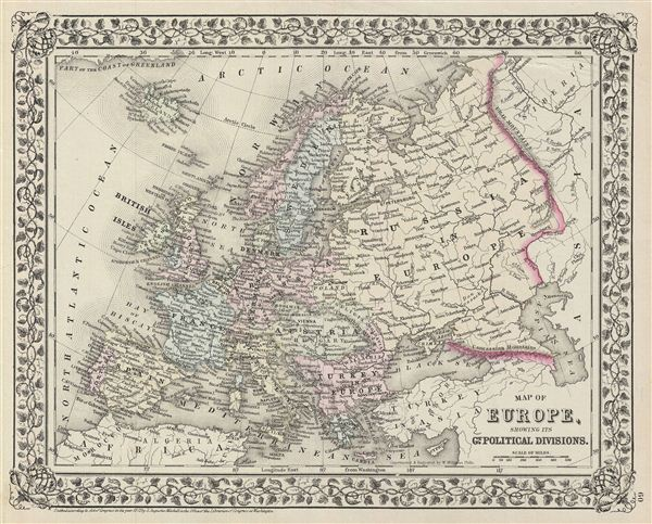 Map of Europe, Showing its Gt. Political Divisions. - Main View