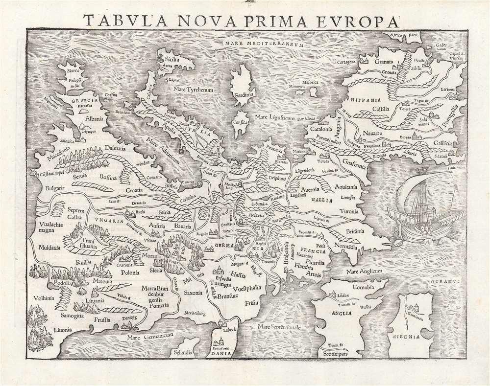 Tabula Nova Prima Europa. - Main View