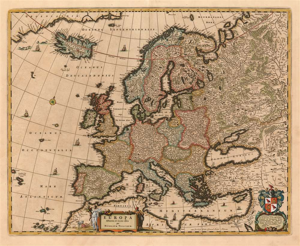 1677 Visscher Map of Europe
