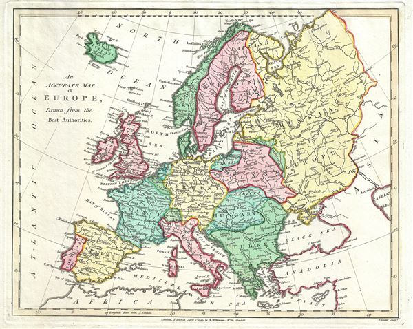 An Accurate Map of Europe, Drawn from the Best Authorities.