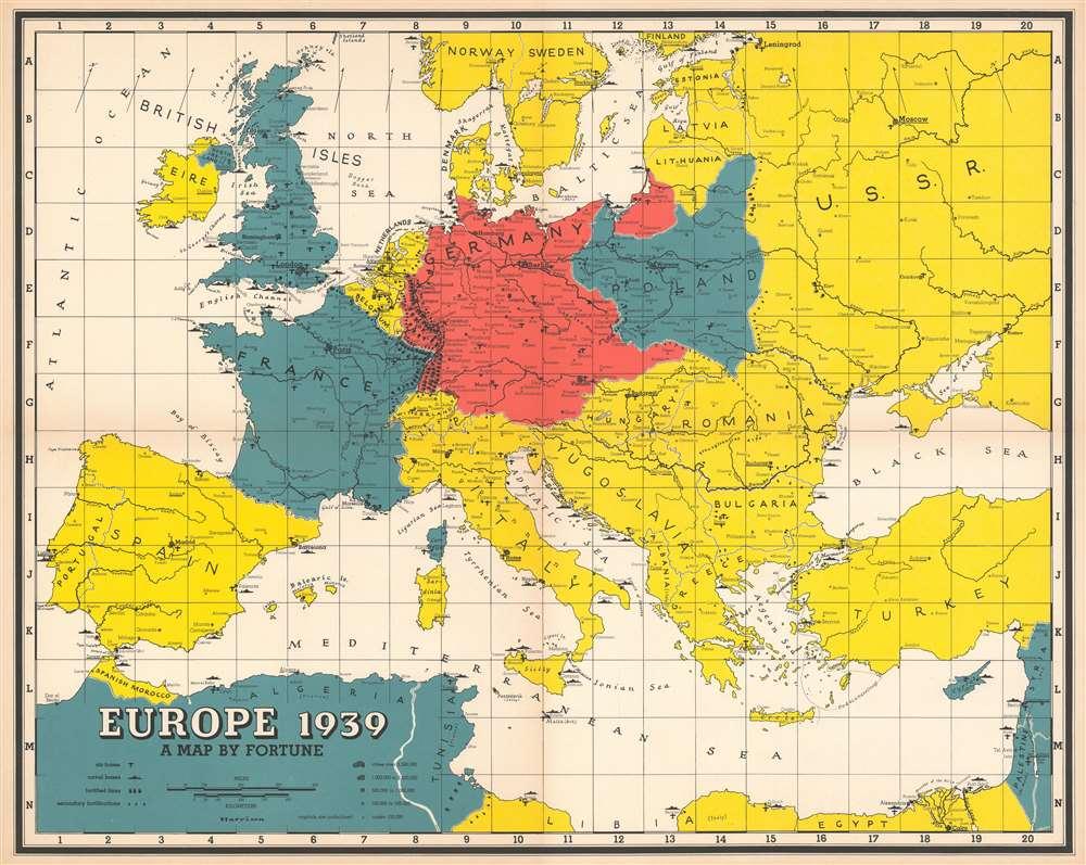1939 Harrison Map of Europe
