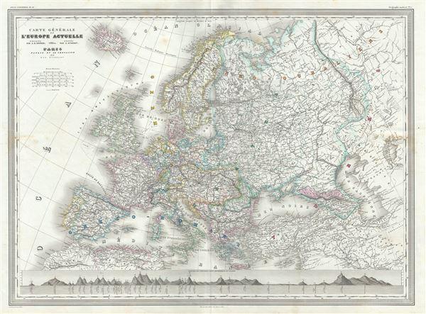 Carte Generale de Europe Actuelle. - Main View