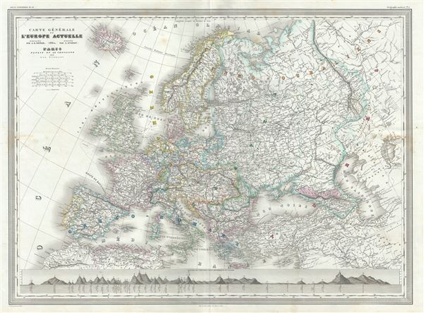 Carte Generale de Europe Actuelle.
