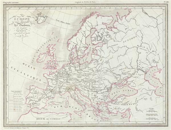 Europe apres l'Invasion des Barbares au 3e. siecle a la Fin du Ve. et pendant une partie du VIe.