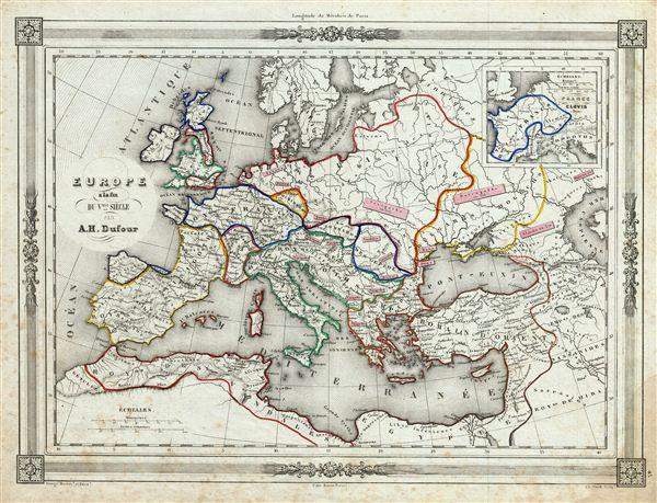 Europe a la fin du V.me Siecle. - Main View