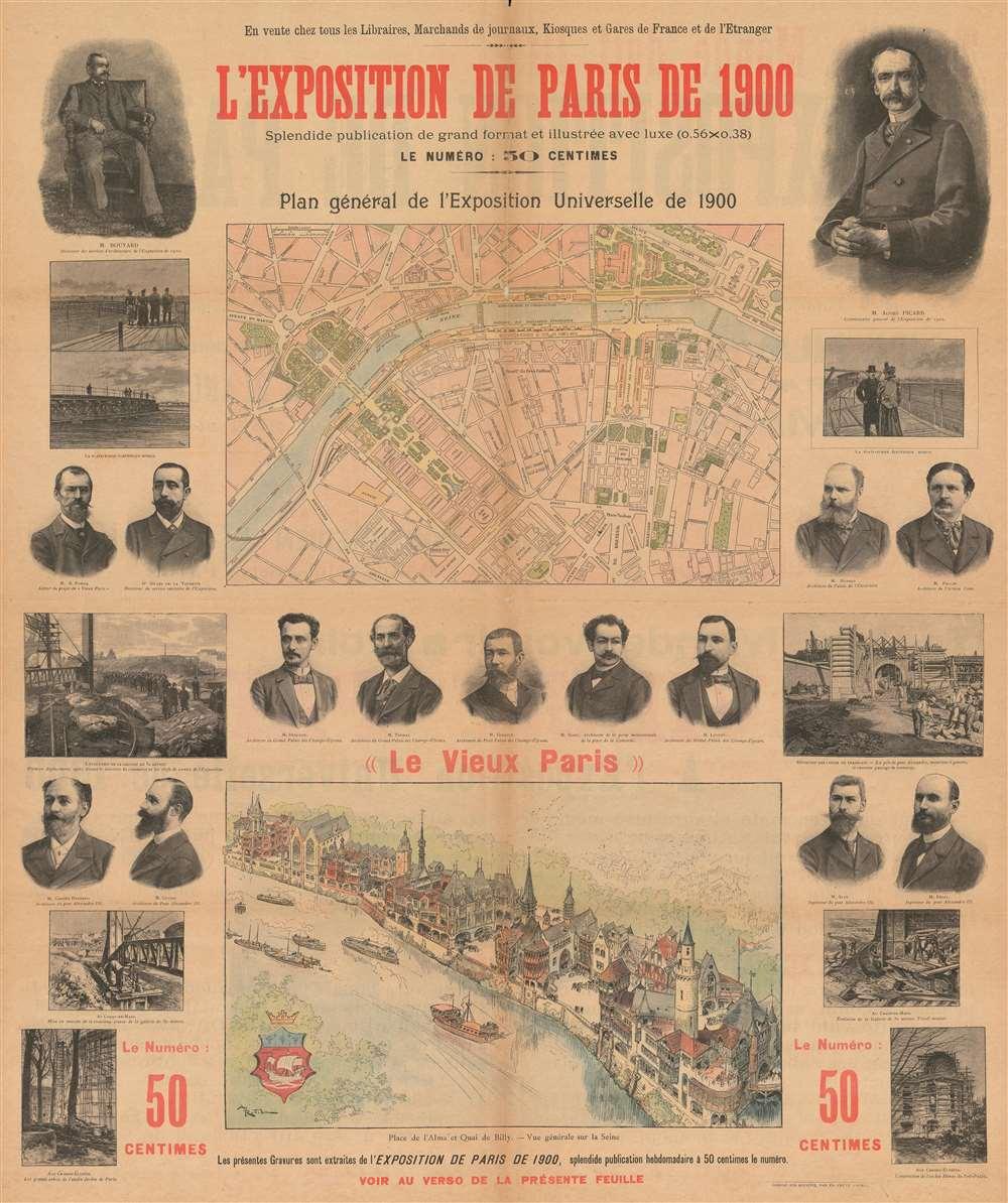 L'Exposition de Paris de 1900 Splendide publication de grand format et illustrée avec luxe.