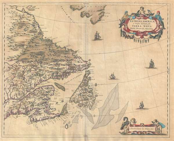 Extrema Americae Versus Boream, ubi Terra Nova Nova Franci.