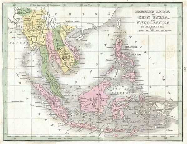 Farther India or Chin India, and N.W. Oceanica or Malaysia.