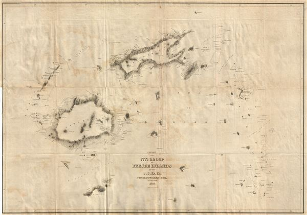 Chart Of The Viti Group Or Feejee Islands By The US Ex Ex - Us map 1840