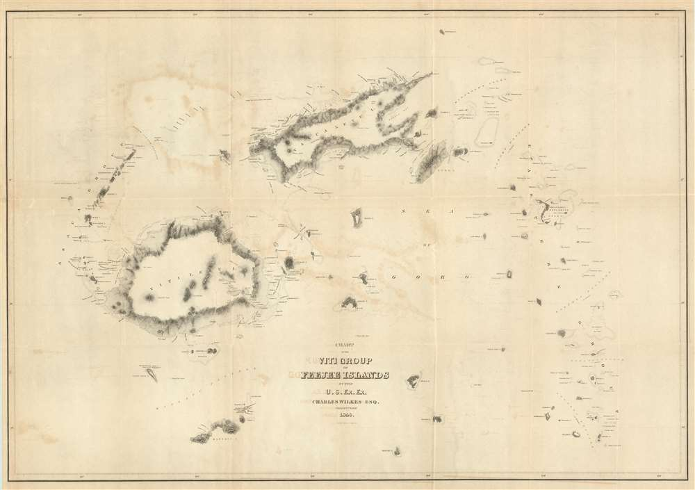 Chart of the Viti Group or Feejee Islands by the U.S. Ex. Ex ...