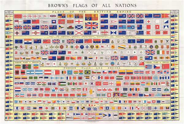 1934 Brown Chart of the World's Flags