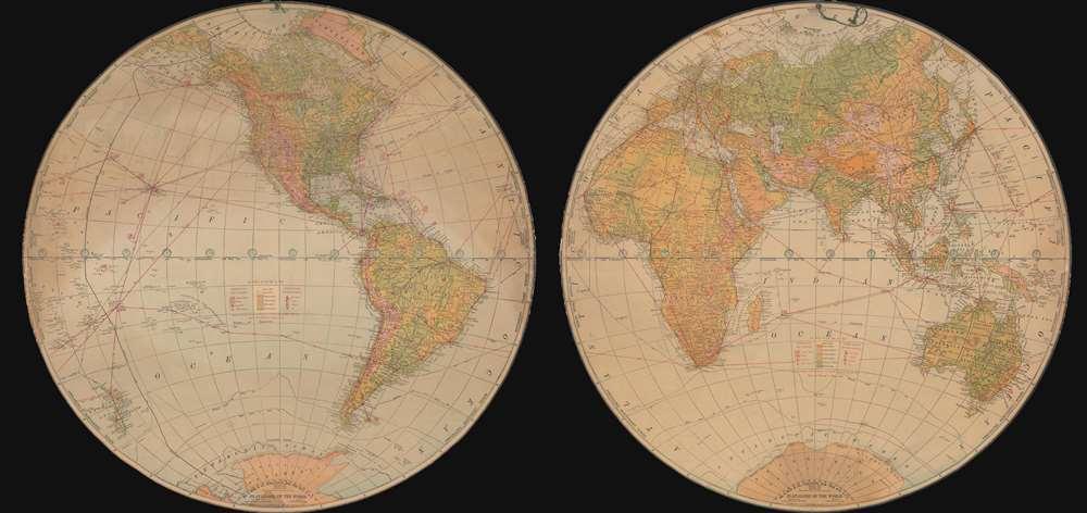 Flat-Globe of the World.