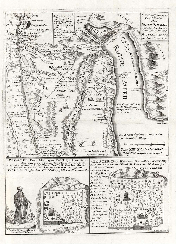 Land-Taffel über NIder-Thebais und über den Auszug deren Israëliten aus AEgypten. - Main View