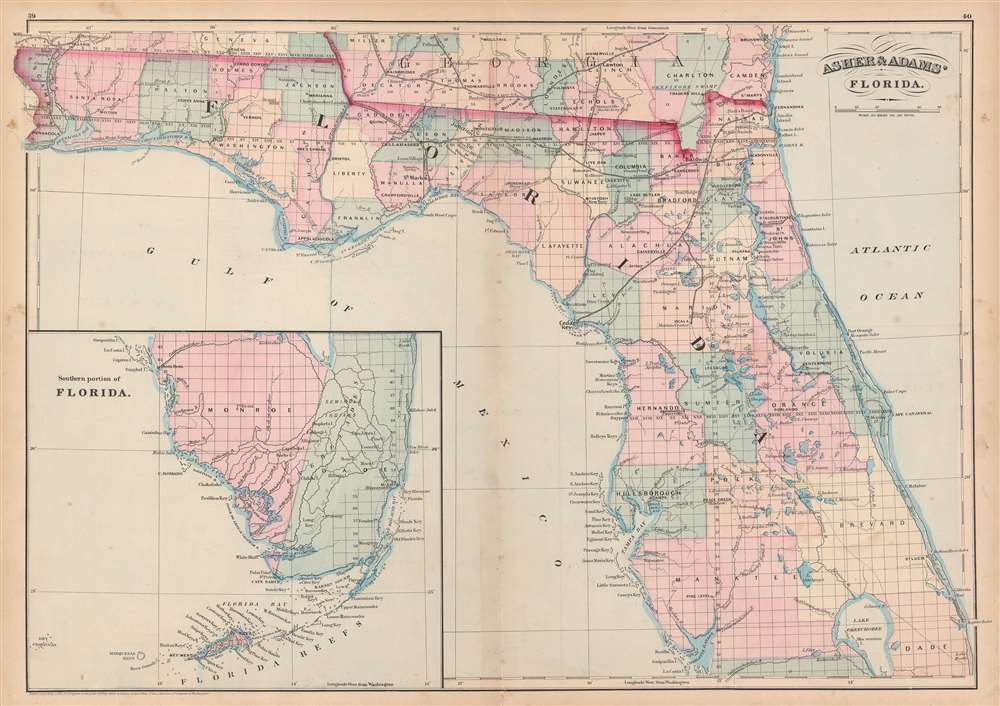 Asher and Adams' Florida. - Main View