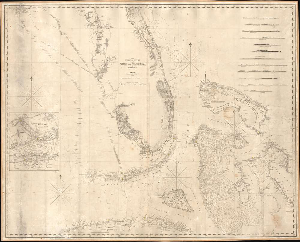 The Bahama Banks and Gulf of Florida, by Edmund Blunt. - Main View