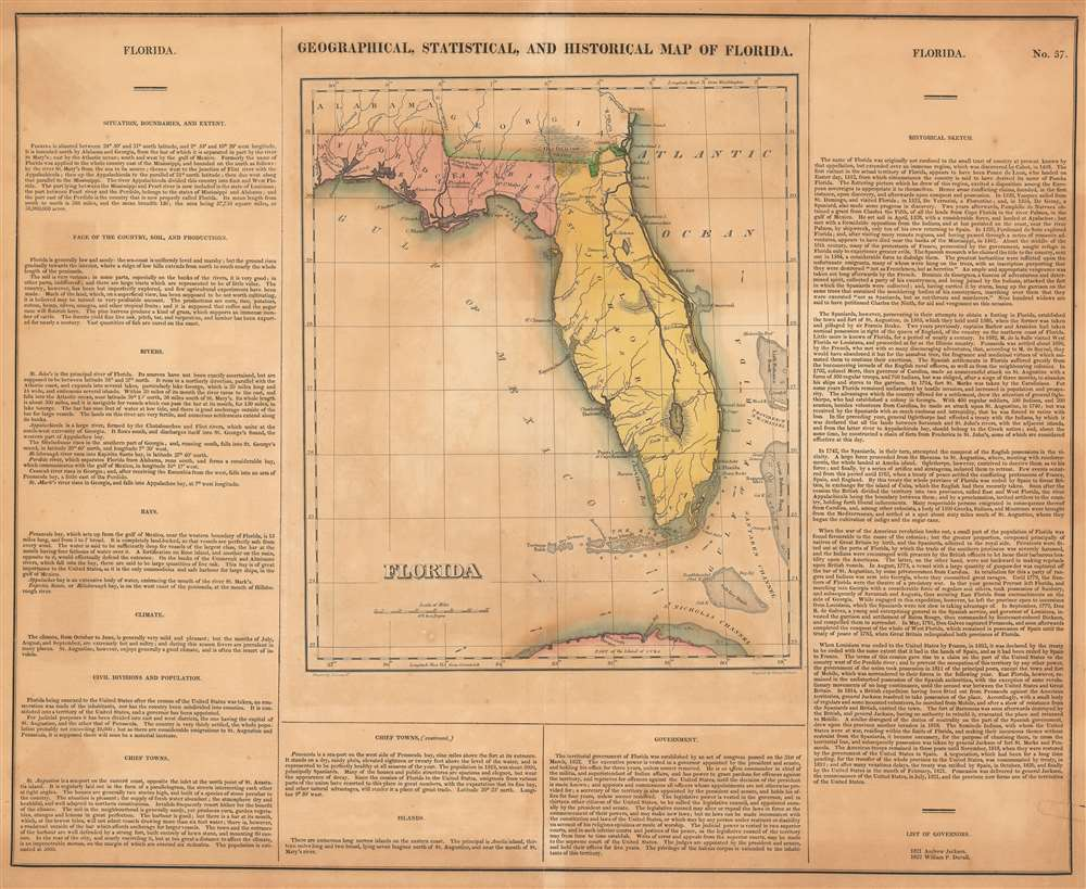 Geographical, Statistical, and Historical Map of Florida. - Main View