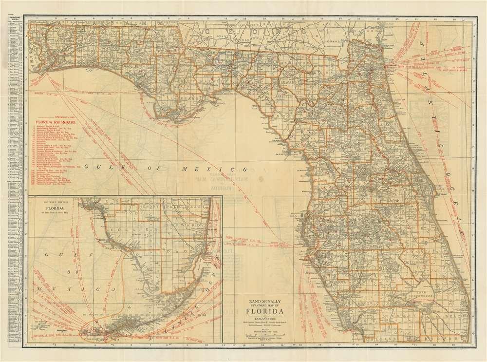 Rand McNally Standard Map of Florida. - Main View