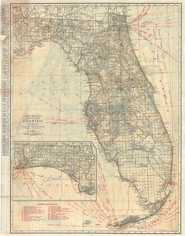 Rand McNally Standard Map of Florida.