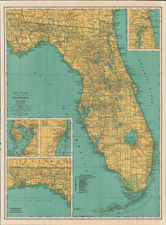 Rand McNally Standard Map of Florida. / Rand McNally Road Map Florida. - Main View
