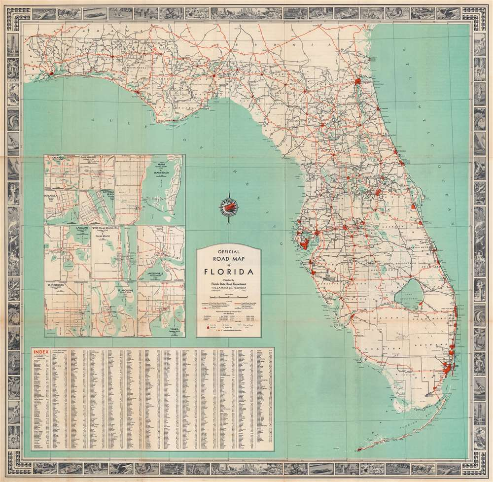 Official Road Map of Florida. - Main View