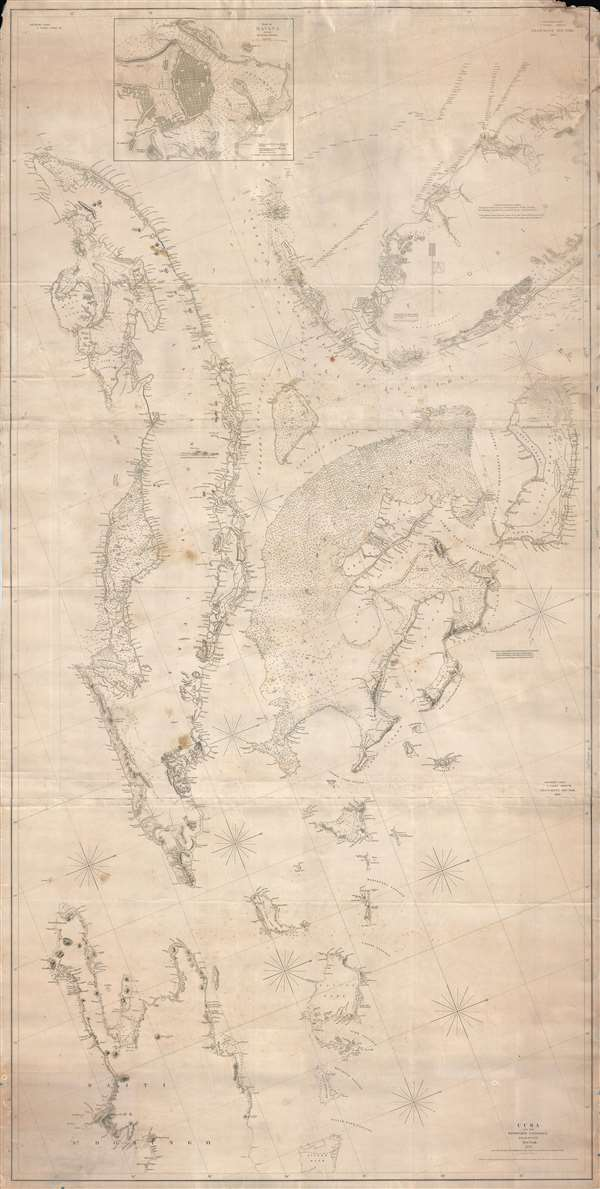 Map Of Florida And Cuba.Southern Coast U States Sheet Viii Cuba And The Windward
