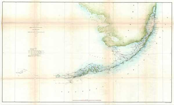 Sketch F Showing the Progress of the Survey in Section No VI from Cape Florida to Tortugas Island.
