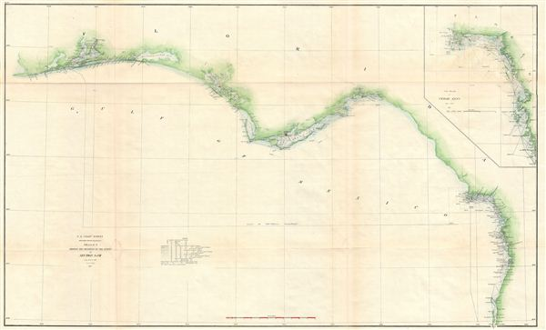 Sketch G Showing the Progress of the Survey in part of Section VII from 1849 to 1871. - Main View