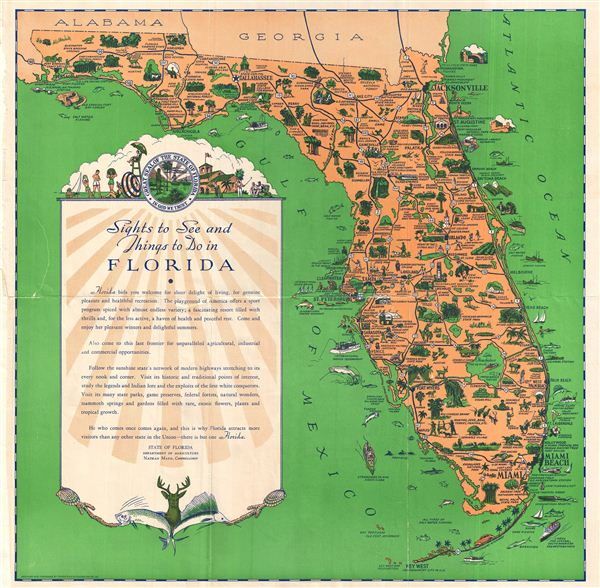 Pictorial Map of Florida.