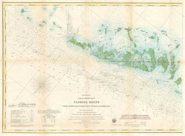 Preliminary Coast Chart No. 71 Florida Reefs From Newfound Harbor Key to Boca Grande Key.