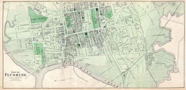 Part of Flushing. Town of Flushing, Queens Co. - Main View