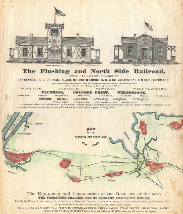 The Flushing and North Side Railroad, with its leased branches.