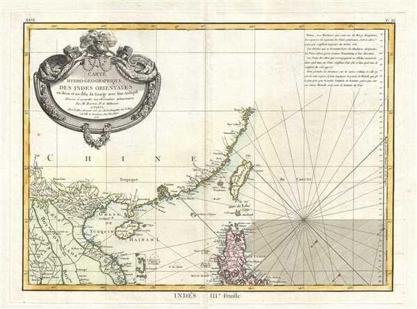 Carte Hydro-Geo-Graphique des Indes Orientales en deca et au dela du Gange avec leur Archipel Dressee et assujettie aux Observations Astronomiques.