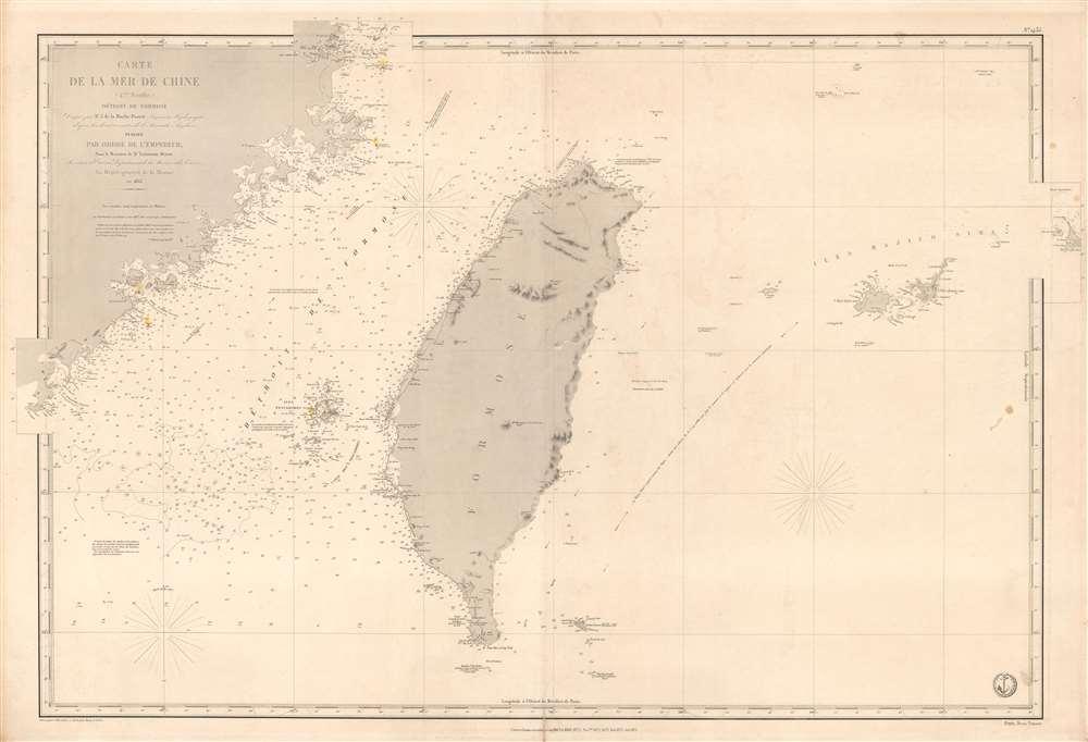 Carte de la Mer de Chine (4eme. Feuille) Détroit de Formose. - Main View