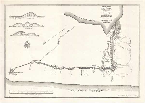 Plan and Sections of Fort Fisher Carried by assault by the U.S. Forces Maj. Gen. A.H. Terry Commanding Jan. 15th, 1865.