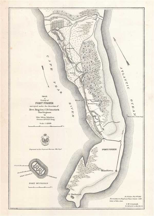 Sketch of Vicinity of Fort Fisher.