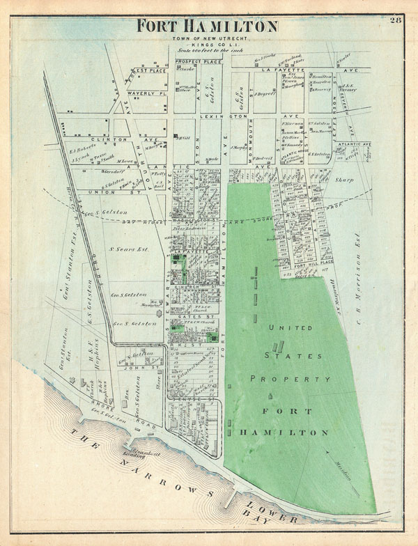 Fort Hamilton, Town of New Utrecht, Kings Co. L.I.
