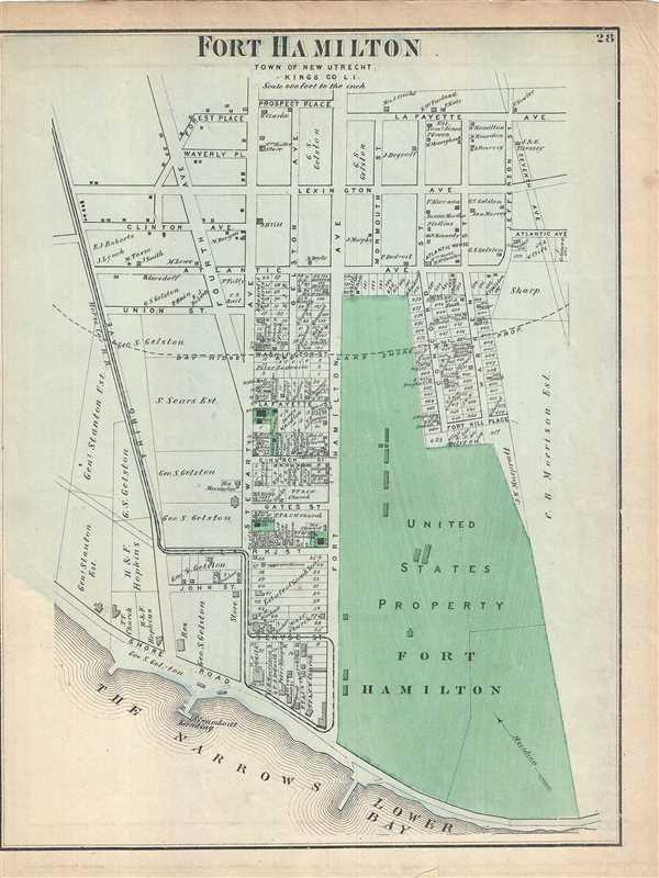 Fort Hamilton, Town of New Utrecht, Kings Co. L.I.